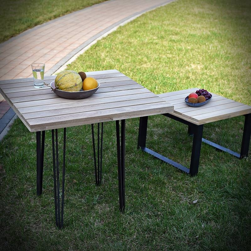 Oak tabletop WERANDA 40x40 cm