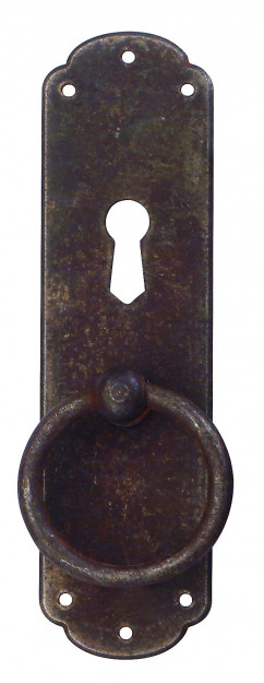 RUSTYK 30 X 110 mm furniture handle with key plate