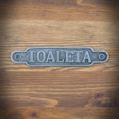 retro emblemat na drzwi