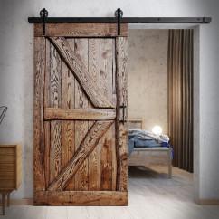 Rustic Oak Sliding Door FLINSTON