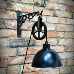 Chandelier/Lightshade in retro style 215mm black