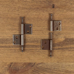 Furniture hinge RUSTYK left brown