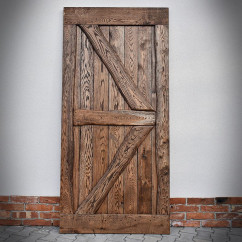 Rustic Oak Sliding Door FLINSTON