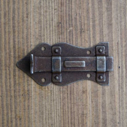 Furniture lock RUSTYK 80 x 40 mm