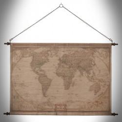 World map wall Globtroter dark