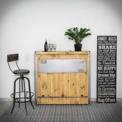 Bar / sideboard STEEL WOOD