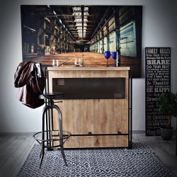 Bar / sideboard STEEL WOOD