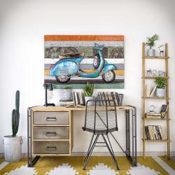 Industrial desk with metal drawers STEEL WOOD 1