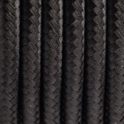 Polyester Braided Cable 01 CZARNY 3x0,75
