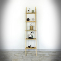 Ladder shelving with 5 shelves WAS