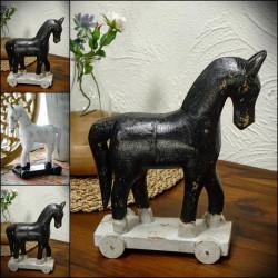 Wooden Horse on Wheels TROJA