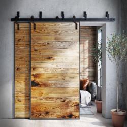 Oak door in steel frame METAL DESK