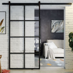 Industrial Glass Sliding Door GLOSSY - OPTIONS