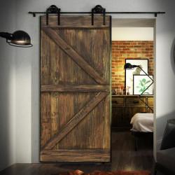 sliding door in steel frame