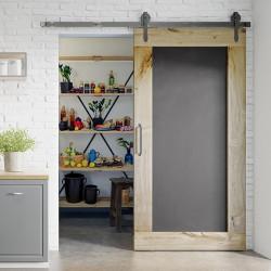 Oak Sliding Door Blackboard