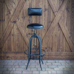 BAR CHAIR, HOKER INDUSTRIAL UPHOLSTERED