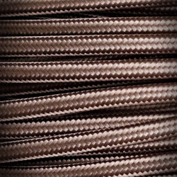 Braided Electrical Cable/Wire 2x0,75 Dark Brown
