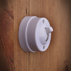 Retro,Antique Electrical Switch Single White