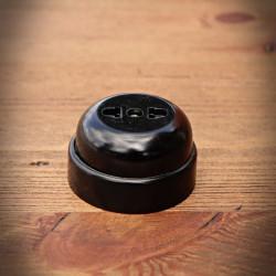 Antique Electrical Socket Black