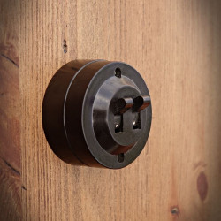 Rustic Double Electrical Switch OLD