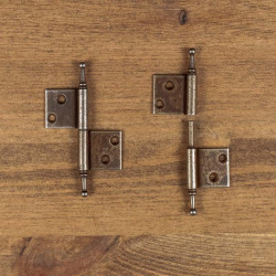 Furniture hinge RUSTYK applied right brown