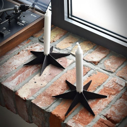 Cast Iron Candle Holder STAR