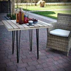 Oak tabletop WERANDA 80x80 cm