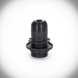 black E14 lamp holder