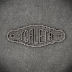 emblemat żeliwny toaleta