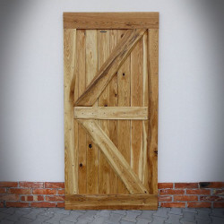 Oak sliding door FLINSTON With Nails