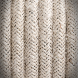 Retro cord, electrical cable jute braided 2x0,75 J03