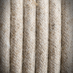 Linen Braided Cable 01 KREMOWY 2x0.75