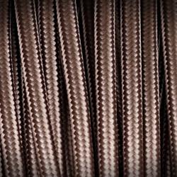 Polyester Braided Cable 01 BRAZ CIEMNY 2x0,75