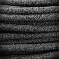 Wire,Electric Cable Cotton Braided 2x0.75 Coal