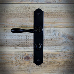 Steel WC handle in black with a internal locker system BRISTOL
