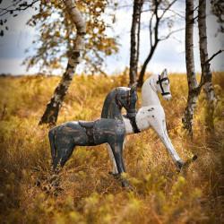 Wooden rocking horse M