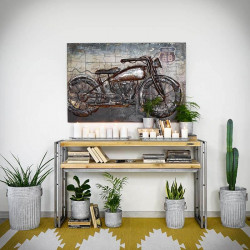 Industrial console STEEL WOOD 1
