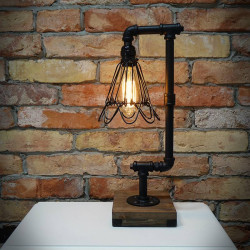Lampa z rur z kloszem SARAH