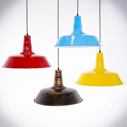 colourful ceiling lamps