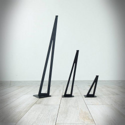 noga stalowa slim czarna
