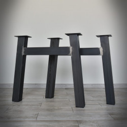 H-type steel table leg - 72x71 cm