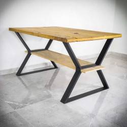 table legs with two tabletops