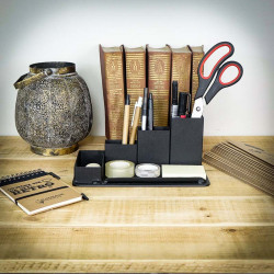 black desk organiser
