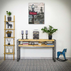 Console table STEEL WOOD