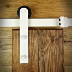white sliding door system
