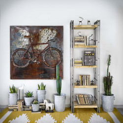 Industrial bookcase STEEL WOOD 3