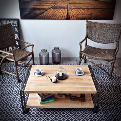 Coffe table STEEL WOOD