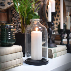 Candle Holder Glass Bottle
