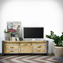 Industrial TV cabinet FACTORY PINE 2