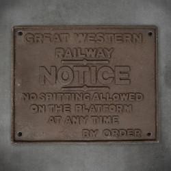 tabliczka informacyjna rustykalna